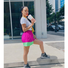 Casual Sports Patchwork Pocket Shorts WXF-6602