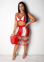 Sexy Fashion Crochet Beach Skirt Set OSM-AJ4072