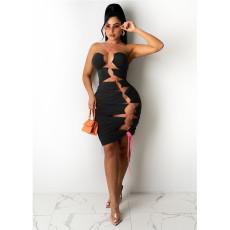 Sexy Irregular Hollow Bandage Club Dress NM-8356