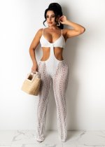 Sexy Lace Hollow Backless Strap Jumpsuit TR-1136