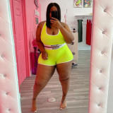 Plus Size Casual Tank Top And Shorts 2 Piece Sets WAF-7181