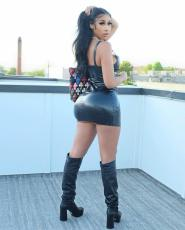 PU Leather Sleeveless Strap Mini Dress BS-1267