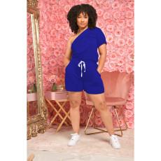Fashion One-shoulder Short Sleeve Rompers IV-8217