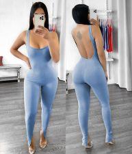 Fashion Sexy U-neck Backless Jumpsuit LDS-3271