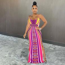Fashion Sexy Print Maxi Dress SIF-070