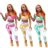 Printed Casual Vest And Pants Two Piece Sets NSFF-8069