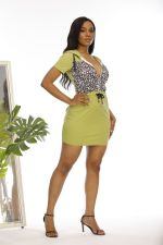 Plus Size Casual Leopard Patchwork Hooded Mini Dress YM-9293