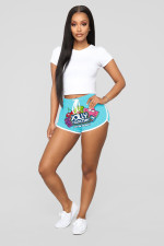 Casual Printed Drawstring Shorts WY-6789
