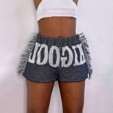 Casual Printed Tassel Shorts MIF-9064