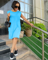 Casual Solid Knee Lenghth Dress NYF-8066