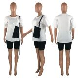 Casual T Shirt And Biker Shorts 2 Piece Sets HHF-9086