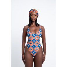 Sexy Printed Bodysuit Swimwear+Long Cloak 2 Piece Sets OLYF-6063