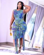 Sexy Leopard Sleeveless Bandage Dress SH-390136