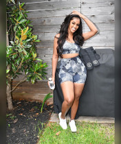 Casual Printed Tank Top And Shorts 2 Piece Sets AIBF-6649