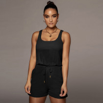 Casual Solid Color Sleeveless Rompers ME-S845