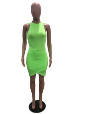 Sexy Solid Sleeveless Bodycon Mini Dress SHA-96241