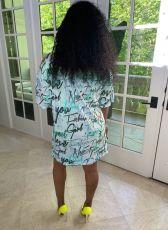 Fashion Printed Loose Casual Dress CM-2135