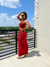 Casual Solid Tank Top Long Skirt 2 Piece Sets KSN-88001