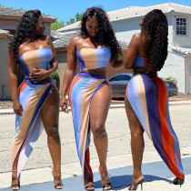 Sexy Gradient Beach 3 Piece Sets XINF-60012