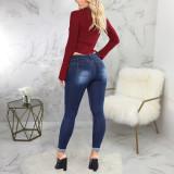 Casual Denim Hole Skinny Jeans Pants HSF-2444