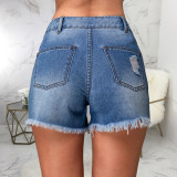 Denim Ripped Hole Jeans Shorts HSF-2429