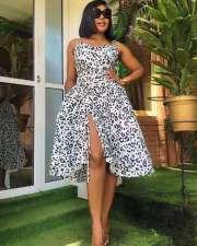 Fashion Sexy Sling Print Dress WPF-8005