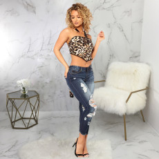 Fashion All-match Ripped Skinny Jeans HSF-2453