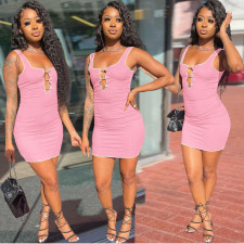 Casual Sleeveless Slim Mini Dress AL-258