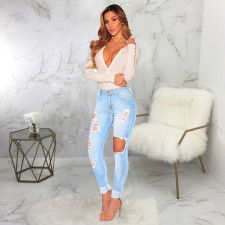 Fashion All-match Ripped Jeans HSF-2450