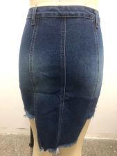 Plus Size Fashion Irregular Bag Hip Skirt HSF-2415
