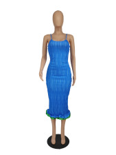 Sexy Spaghetti Strap Sleeveless Slim Midi Dress SXF-52103