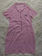 Casual Embroidery Zipper Short Sleeve Mini Dress BLI-2381