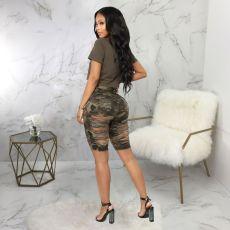 Fashion Frayed High Waist Denim Shorts HSF-2460