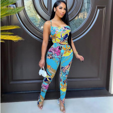 Sexy Printed Cami Top And Pants 2 Piece Sets YHDF-60039