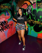 Casual Printed Mid-Waist Straight Shorts ZNF-9087