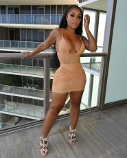 Sexy Mesh Bodysuit+Mini Skirt Two Piece Sets YLF-8085