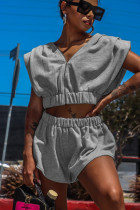 Fashion Sexy Solid Color Loose Shorts Suit WY-6826
