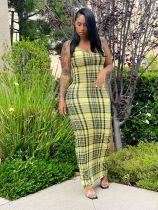 Fashion Sexy Print Slim Long Dress WY-6824