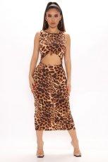 Sexy Printed Sleeveless Split Long Dress APLF-5070
