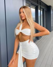 Sexy Wrap Chest Mini Skirt Two Piece Sets LWDF-8838