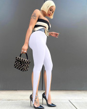 Sexy Solid Skinny Step-Foot Pants Without Belt LWDF-8878
