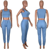 Casual Solid Tank Top And Pants Two Piece Sets MSF-8043