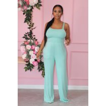 Solid Sleeveless Strap One-Piece Jumpsuit PIN-8600