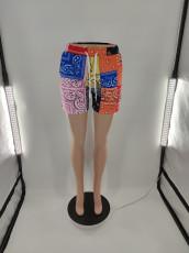 Plus Size Casual Printed Mid-waist Shorts BLI-2396