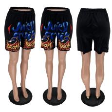 Printed Casual Loose Shorts BNNF-9602