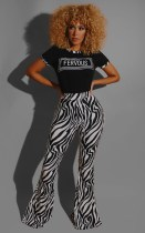 Casual Printed T Shirt And Pants Two Piece Suits YMT-6213