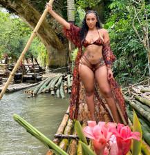 Sexy Printed Bikinis With Long Cloak 3 Piece Sets LSL-6458