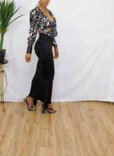 Black Tassel Bodycon Long Skirt JRF-3639