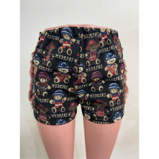 Casual Printed Tassel Shorts LUO-3252
