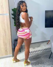 Sexy Printed Bodycon Mini Skirt ZDF-31117